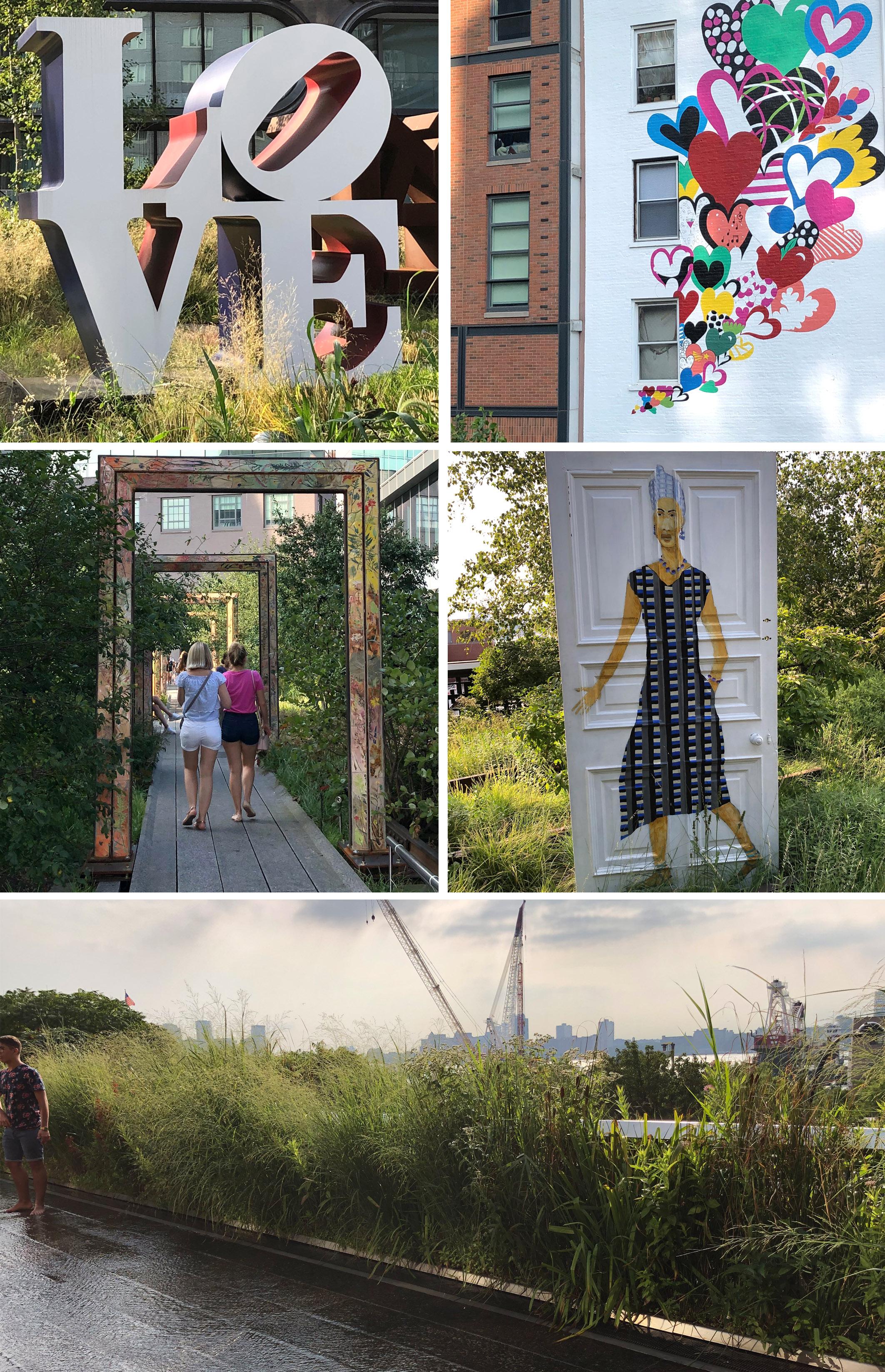 Kunst und Aussicht High Line NYC