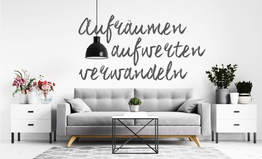 couch und Beistelltische, mit Pflanzen, aufräumen, aufwerten verwandeln, leicht aufräumen und ausmisten