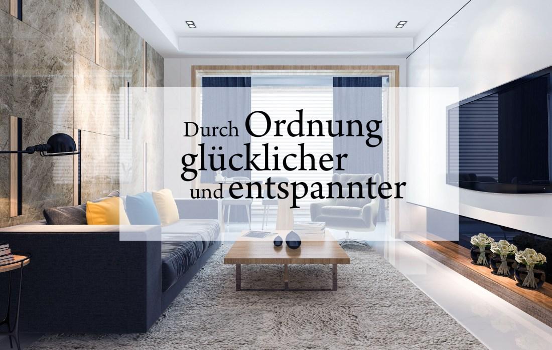 Titelbild WohnzimmerDurch Ordnung glücklicher und entspannter
