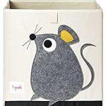3 Sprouts UBXMOU Aufbewahrungsbox Maus, mehrfarbig