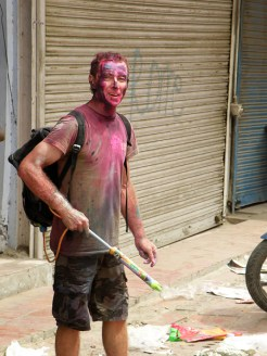 Bryn playing holi