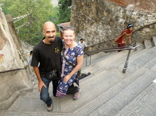 Swayambhunathin portailla