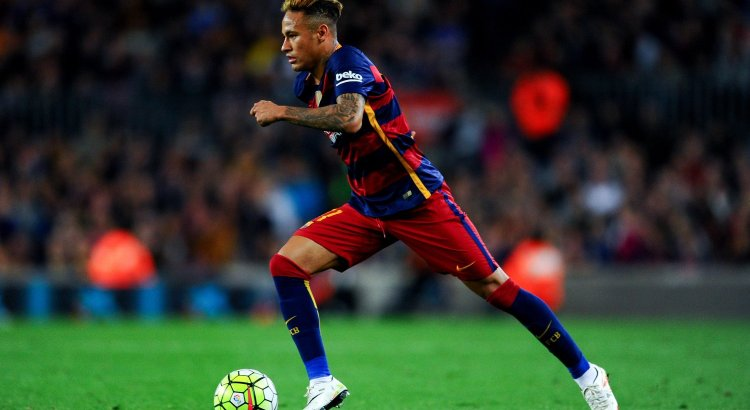 Neymar during a Barcelona match
