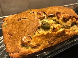 Gluten free ham and olive cake