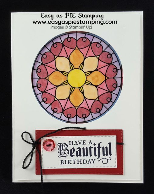 Graceful Glass Birthday Card