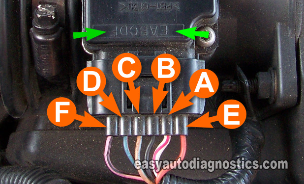 1999 ford f150 engine diagram six pin trailer wiring part 2 -how to test the mass air flow (maf) sensor