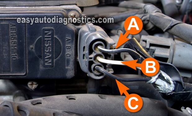 2002 nissan sentra o2 sensor wiring diagram axiom garage consumer unit part 1 mass air flow maf test 2 4l d21 hard body 1990