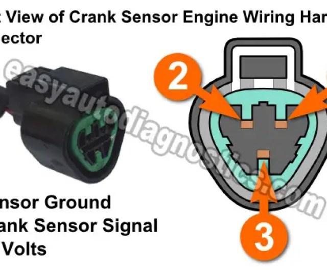 Part 1 How To Test The Crank Sensor  0l Montero Rh Easyautodiagnostics Com