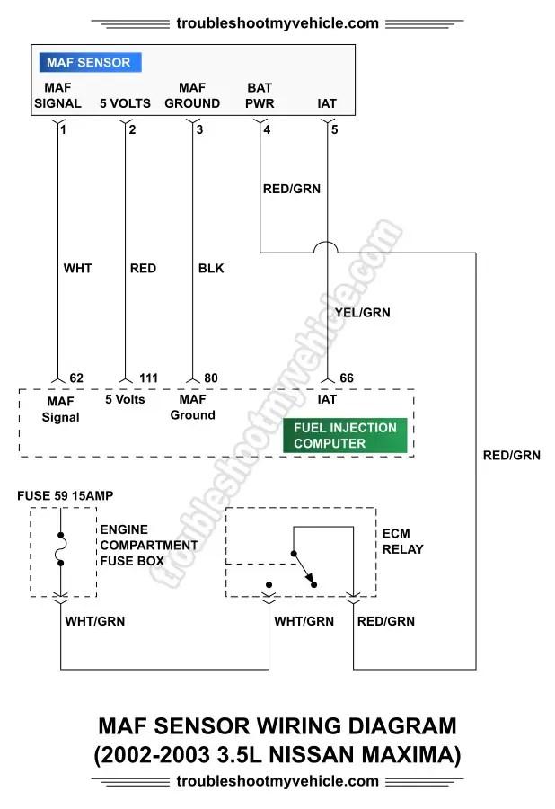 2013 Nissan Maxima Engine Diagram Part 4 How To Test The Maf Sensor 2002 2003 3 5l Maxima