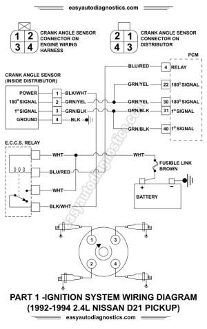 Part 1 19921994 24L Nissan D21 Pickup Ignition System