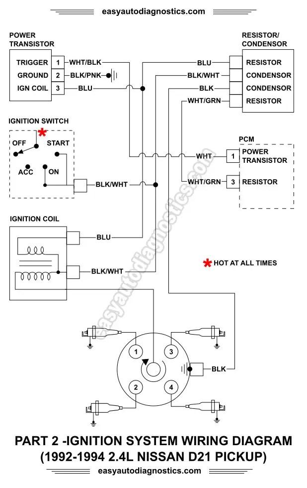 1990 Chevy Ecm Wiring Diagram Part 2 1992 1994 2 4l Nissan D21 Pickup Ignition System
