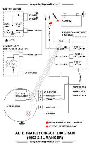 Part 1 19921994 23L Ford Ranger Alternator Wiring Diagram