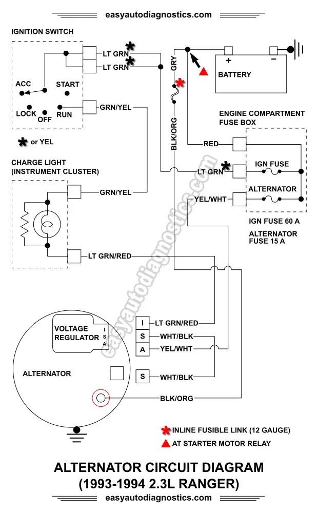1993 Ford Ranger Wiring Harness Part 2 1992 1994 2 3l Ford Ranger Alternator Wiring Diagram
