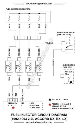 Part 1 19921993 22L Honda Accord Fuel Injector Circuit