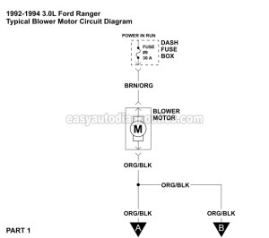 19921994 30L Ranger Blower Motor Circuit Diagram