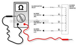 Part 1 How To Test The Blower Motor Resistor (19952003 2