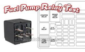 Part 1 Testing The Fuel Pump Relay (19971999 ChevyGMC