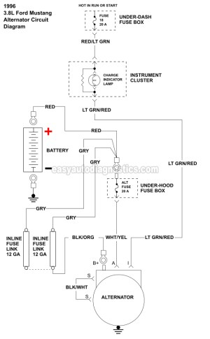 Part 1 Alternator Wiring Diagram (19961998 38L V6 Ford