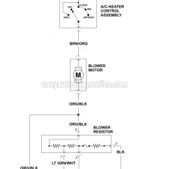 Ford F 350 Engine Diagram Honda Civic Fuel Injector Wiring Blower Motor Circuit 1995 1996 F150 F250 F350