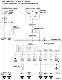 Ignition System Wiring Diagram (1998-2000 2.4L Nissan ...