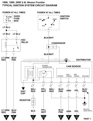Ignition System Wiring Diagram (19982000 24L Nissan