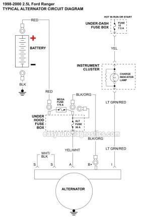 Part 1 Alternator Circuit Diagram (19982001 25L Ford