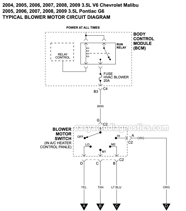 7 Wire Blower Motor Resistor Harness Diagram