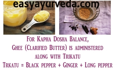 ghee with trikatu for Kapha