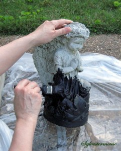 Apply Black Base Paint for Verdigris