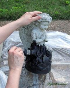 Apply Black Base Paint for Verdigris