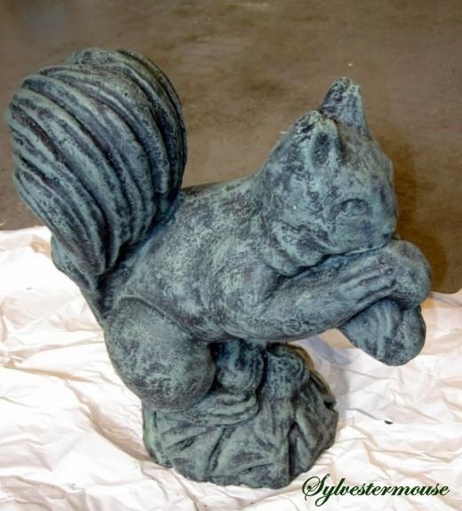 Verdigris painted squirrel