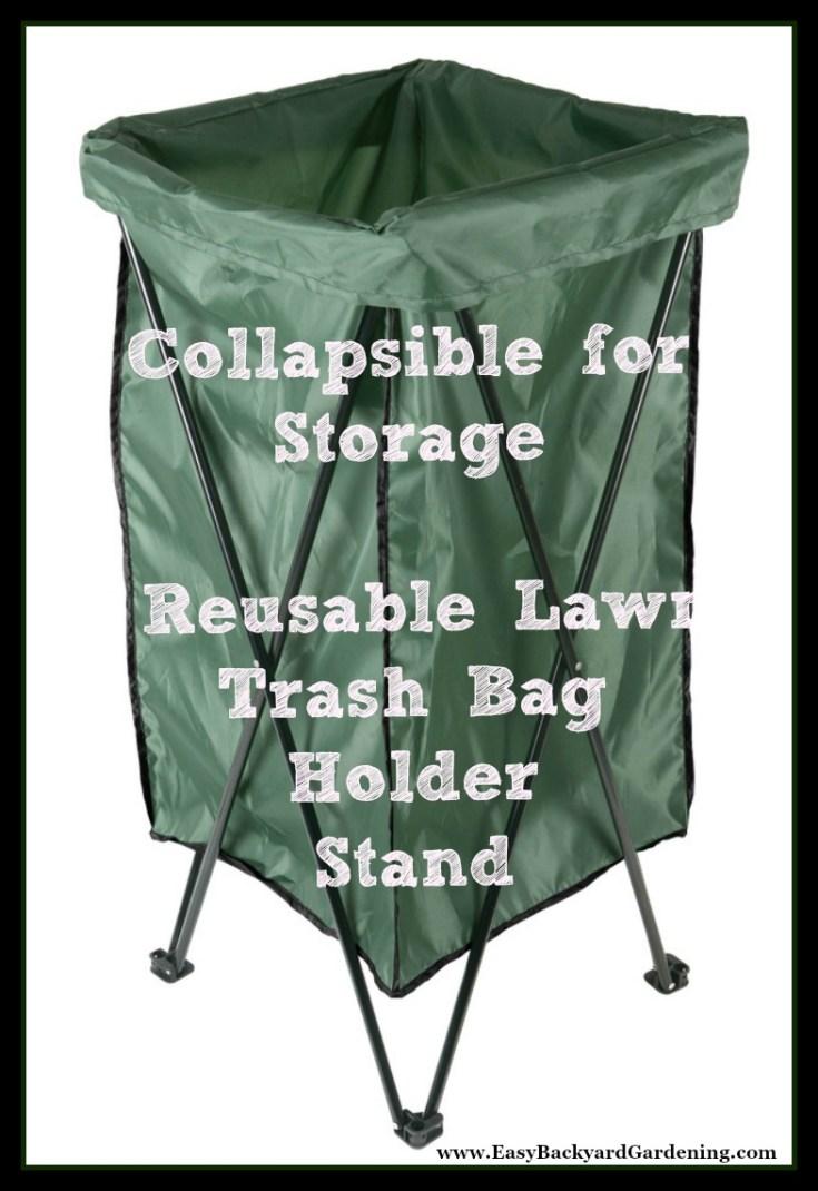 Leaf & Lawn Trash Bag Holder Stand with Bag