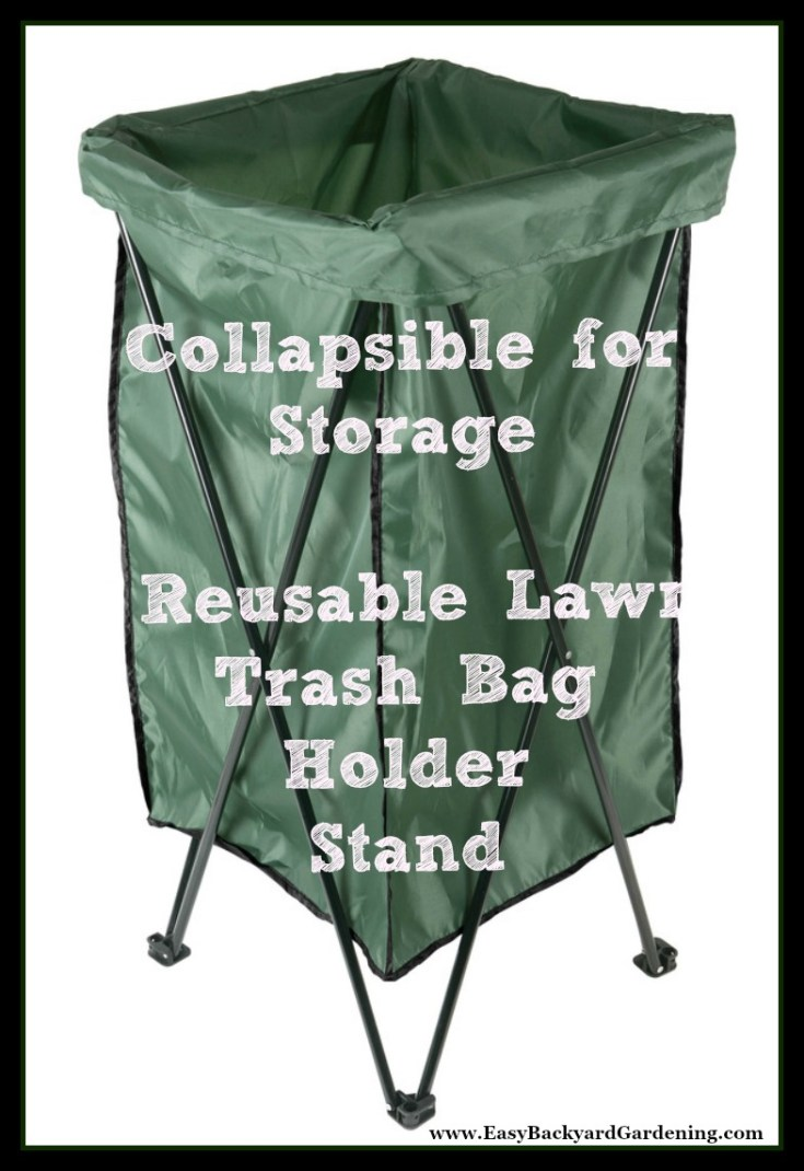 Leaf & Lawn Trash Bag Holder Stand with Bag