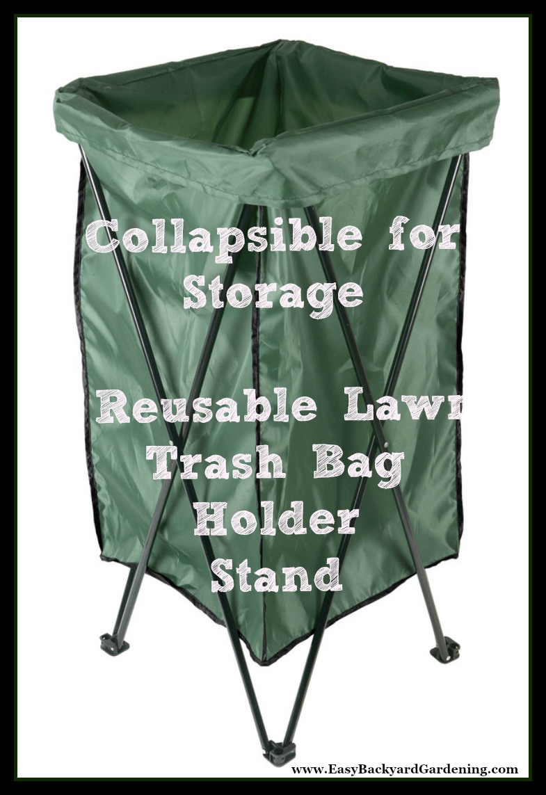Leaf U0026 Lawn Trash Bag Holder Stand With Bag