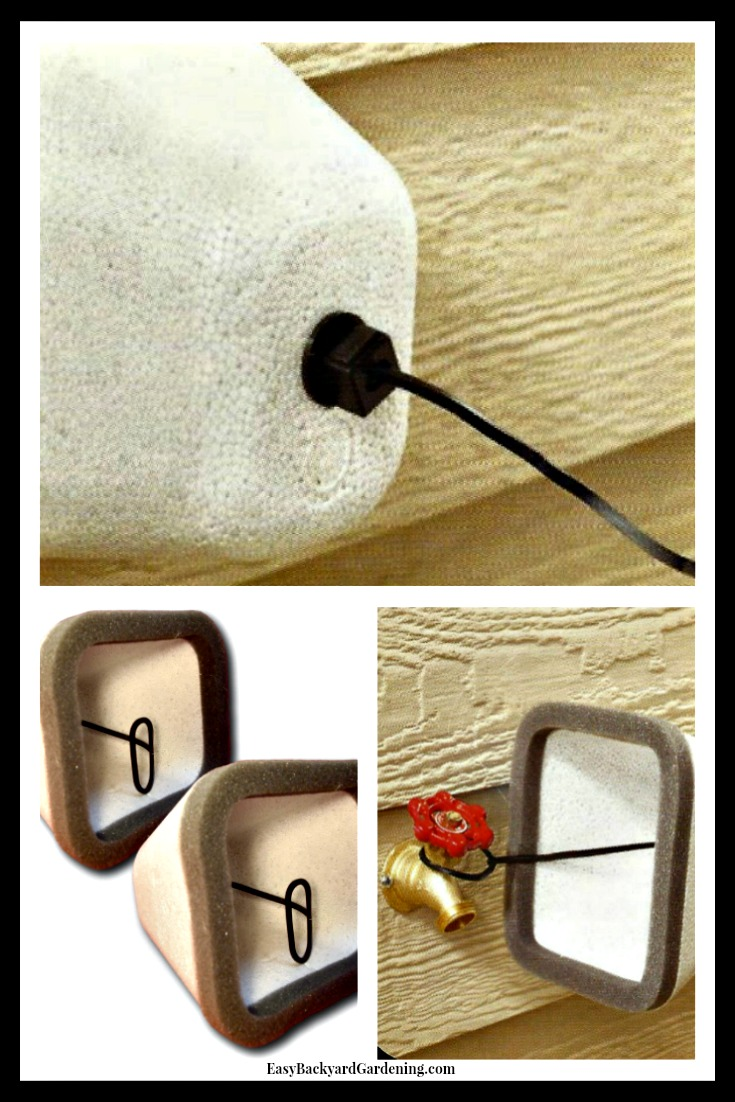 Winterize with Styrofoam Outdoor Faucet Covers - Easy Backyard ...