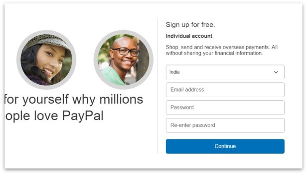 how to create a paypal business account