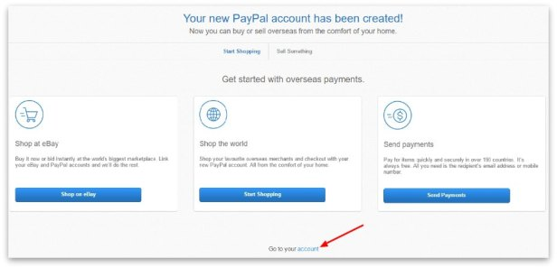 how to create PayPal account step 7