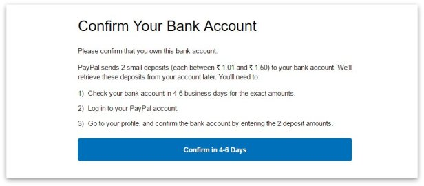how to create PayPal account step 11a