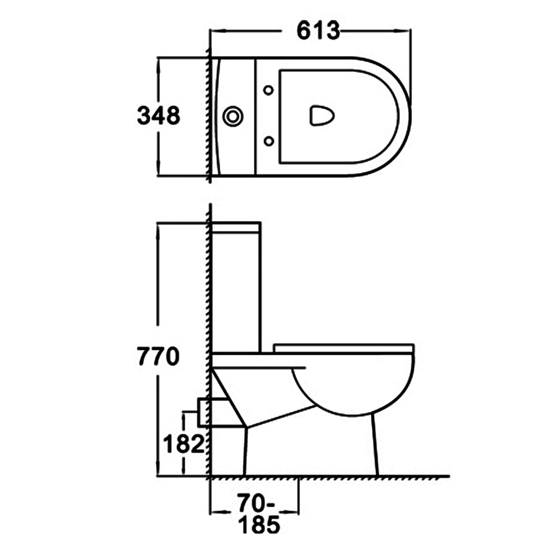 Bathroom Toilet Amaze Close Coupled White Ceramic Pan Soft