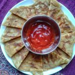 Cheese Paratha Bites | Cheese stuffed Indian flatbread bites