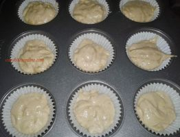 fill the muffin cases