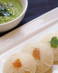 Green Coconut Chutney for idli-dosa