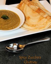 Spicy Zucchini Chutney Without Coconut | chiliness lingering on the taste buds