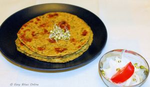 sprouted green gram roti