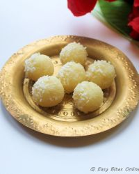 3 min diwali sweets coconut laddu