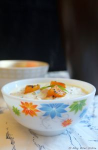 Roasted Yellow Pumpkin Raita | Mooli Sambar