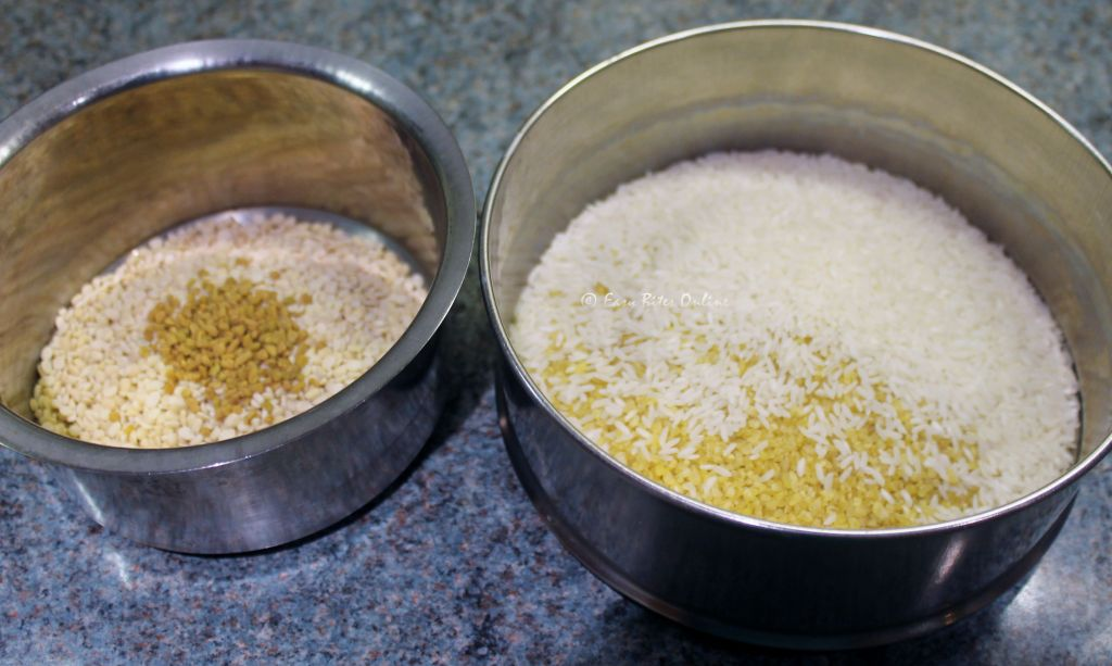 soak the grains separately as shown