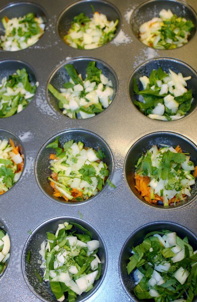 add your shredded vegetables into the tray as shown
