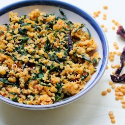 Menthyada Soppina Bele Palya | Fenugreel Leaves with Lentils Dry Curry