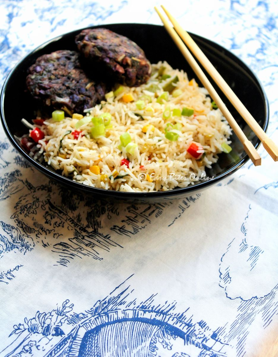 Chinese 5 Spice Fried Rice With 5 Spice Ragi Patties